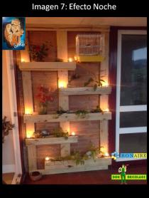 jardinera con palets, porta macetas de palets. reciclaje y decoración