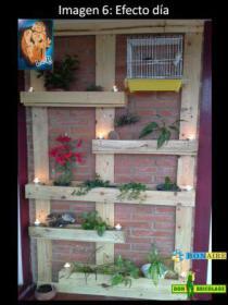 muebles con palets, jardinera vertical, huerto urbano