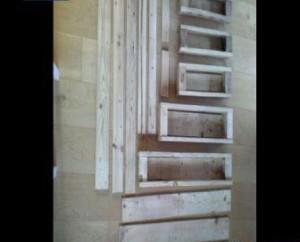 muebles con palets, jardinera vertical